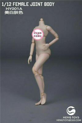 1/12 Heng Toys HY001A Female Pale Joint Body Action Figure  Model Custom Doll