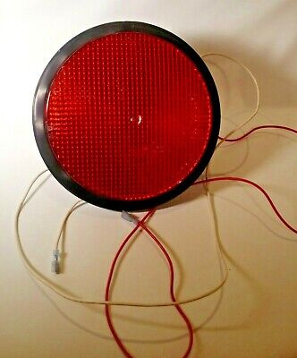 "Dialight Red 8"" Led Traffic Signal Outdoor Christmas Light Decor Tested  Working"