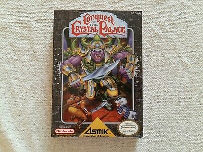 Conquest Of The Crystal Palace NES Entertainment System Replacement Box Game