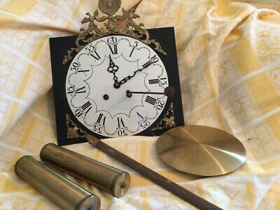 French comtoise Morbier clock France Enamel Brass Pendulum Wag On Wall Rooster