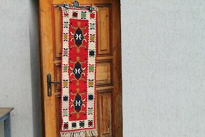 Antique Authentic Old Hand Ottoman Woolen Rug Carpet Two Faces 19Century