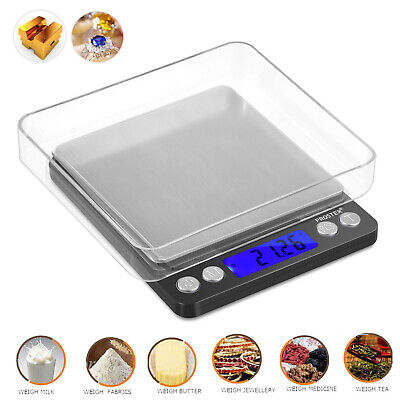 Digital LCD Scale Kitchen Jewelry Gold Food Herb Grain Weight Scale 0.01 x 500g