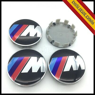 Pack 4X Tapas Llantas Rueda Bmw 68Mm Emblema M Power