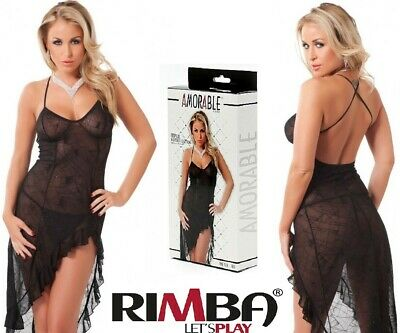 4a62005a5ccc3 'Amorable' by Rimba Lingerie Spider Web Design Nightdress & G-String (R1811