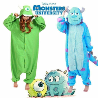 Hallowee Adult&Kid Monsters Mike Wazowski/sulley Costume Pajamas Sleepwear FR v