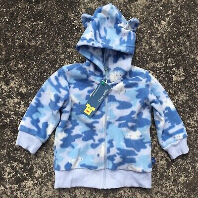 """CAMOUFLAGE """"Blue"""" Baby Girls Boys Long Sleeve Hoodie Top Jumper (Size 0) 6-9mth"""