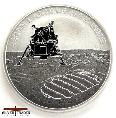 2019 Australian Apollo 11 Landing 50th Anniversary 1oz Silver Bullion Coin unc: