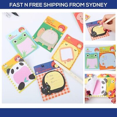 1x Kawaii Mini Sticky Notes: Cute Unique Japanese Scrapbooking Animal Series