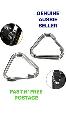 2x Camera Strap Strong Triangle Split Rings Metal Chrome Finish Ring Replacement