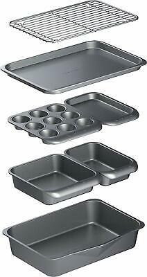 KitchenCraft MasterClass Smart Space Non Stick Carbon Steel Stackable Bakeware S