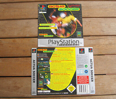 Actua Soccer (1997) Playstation 1 Cover Originale, No Disco