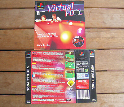 Virtual Pool (1996) Playstation 1 Cover Originale, No Disco