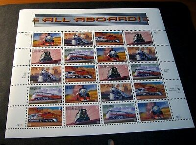 US Stamp Scott# 3337a  All Aboard-Famous Trains 1999  MNH  Pane of 20  BKL16