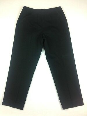 Talbots Womens Size 10 Black Dress Pants Stretch Flat Front Career