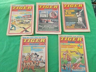 Tiger & Scorcher Comics 1977 Job Lot x 25