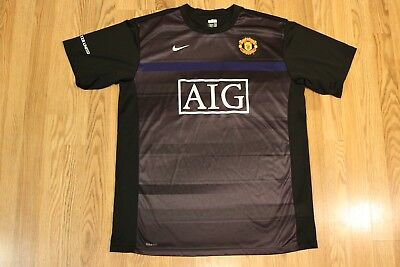 adde391bfed Nike Fit Dry Manchester United AIG Black soccer Jersey Men s Size XL Free  Shippi