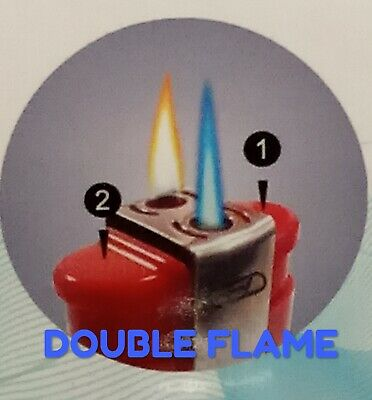 Gsd Duo Flame, Windproof Electronic Lighter,, Different Colours