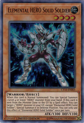 Elemental HERO Solid Soldier CT15-EN003 Holo Yugioh 2018 Mega Pack Promo