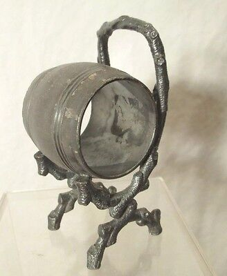 BRANCHED CHAIR silverplate NAPKIN barrel RING rustic OLD HICKORY era ADIRONDACK