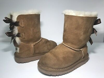 3d0aee3dd1f UGGPURE AUSTRALIA BOOTS size 4 chestnut with pink bows brand new ...