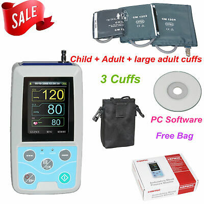 Ambulatory Blood Pressure Monitor, USB Software, 24h NIBP Holter ABPM50 CONTEC