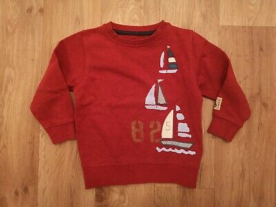 Excellent Next Boys 1.5-2 Years 18-24 Months Sailing Boat Sweater Jumper