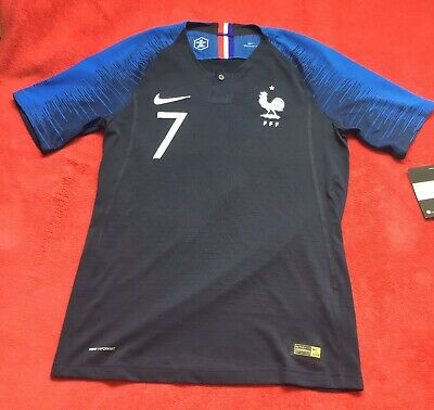 Bnwt Nike Fff Maillot Equipe France Wc 2018 Vaporknit Griezmann Player Issue, S