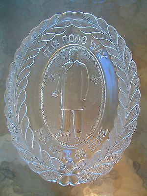 William McKinley BREAD PLATE assignation death U.S.A. President