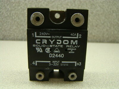 Crydom D2440 Solid State Relay, 240V, 40A, Panel Mount