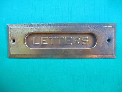 ANTIQUE / VINTAGE solid brass LETTER SLOT - old - BETTER then MOST circa 1900's