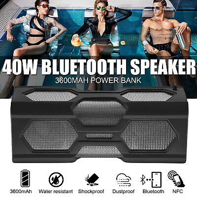 Portable Wireless Bluetooth Stereo Music Waterproof Speaker for Samsung iPhone