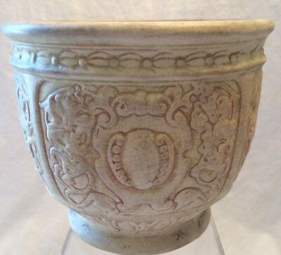 "WELLER WARE unknown pattern NICE LOOK Jardiniere vintage planter 5-1/2"" x 6-3/4"""