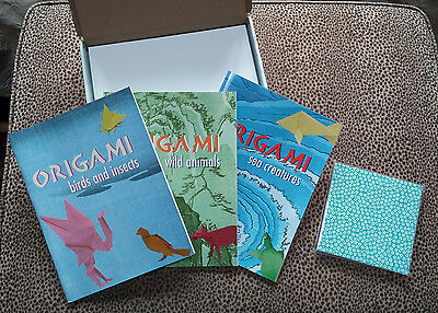 Animal Origami Adventure - 3 Books of Projects & Origami Paper