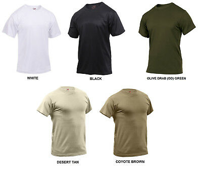 Performance Poly T-Shirt Quick Dry Moisture Wicking Army Navy USMC USAF Gym PT