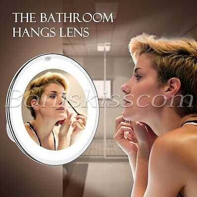 10X Magnifying Makeup Mirror Vanity Bathroom 360° Rotation LED Cosmetic Tabletop
