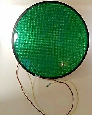 """Dialight Green 12""""  LED Traffic Light Outdoor Christmas Decor Tested and Working"""
