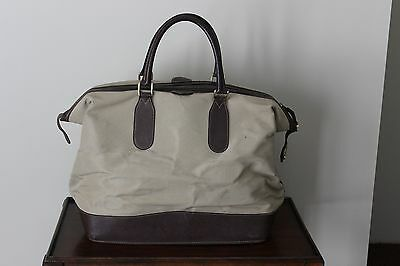 4a5edef9c13 Authentic Vintage GUCCI Tan Duffel Travel Bag Carry On Luggage Unisex Rare