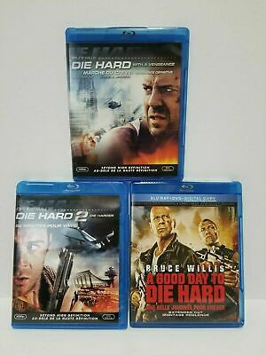 Die Hard saga: Blu-ray movies - Canadian - NO SCRATCHES - tested + Warranty