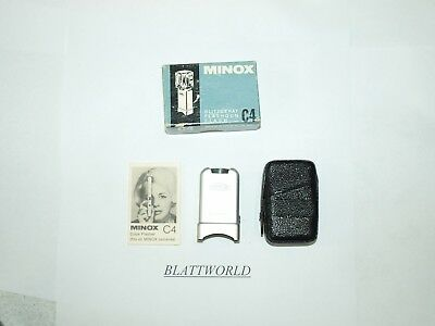 NEW OLD ORIGINAL MINOX C4 CUBE FLASH ADAPTER for MINOX with CASE in FACTORY BOX