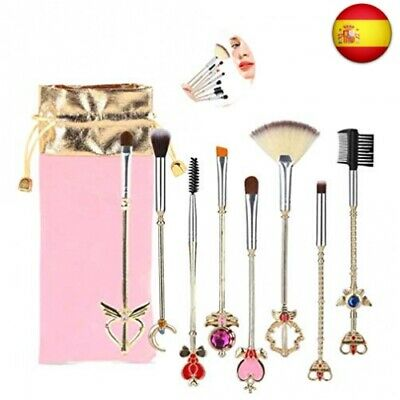 Juego de brochas de maquillaje, Sailor Moon Magical Girl Cute Gold Makeup Brush