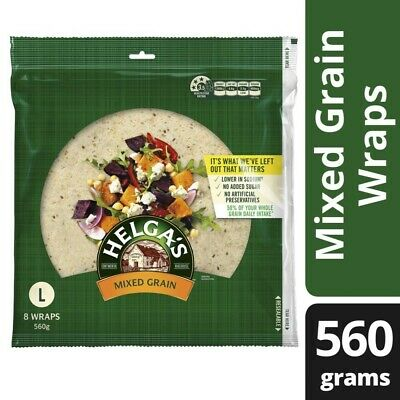 Helga's Whole Mixed Grain Wraps 8 pack 560g