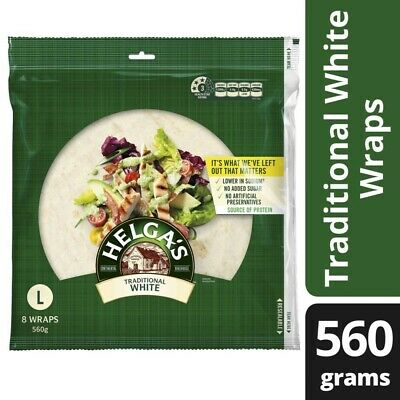 Helga's Traditional White Wraps 8 pack 560g