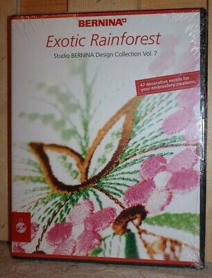 Studio Bernina Exotic Rainforest Design CD Collection 47 Embroidery Motifs NIP