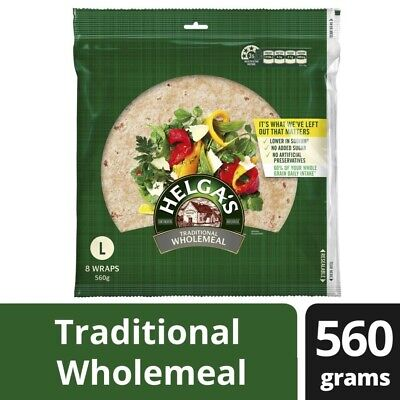 Helga's Traditional Wholemeal Large Wraps 8 pack 560g