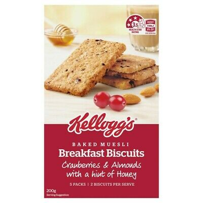 Kellogg's Cranberry & Almond With Honey Breakfast Biscuits 200 gram