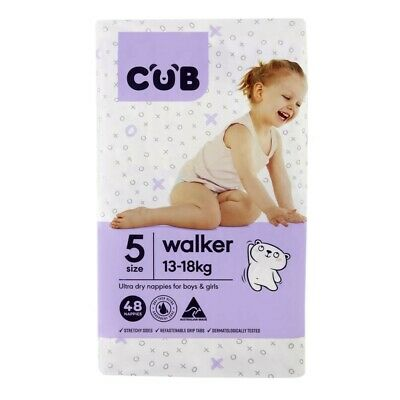 CUB Unisex Ultra Dry Walker 48 Nappies 13-18 Kg Size 5 1 pack
