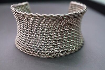 1.5 Inch Wide And Heavy Vintage Sterling Silver 925 Antique Cuff Bracelet!!