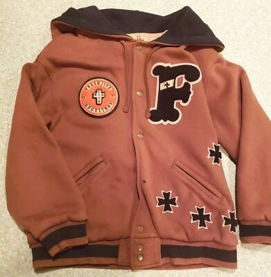 7055d675a544 1990s Vtg FRESH JIVE Letterman Applique Hooded Hoodie Large L Thrasher FUCT  Rare