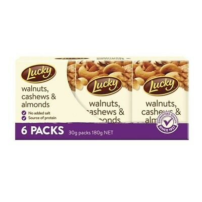 Lucky Walnuts Cashews & Almonds Nut Mix 30g 6 Pack
