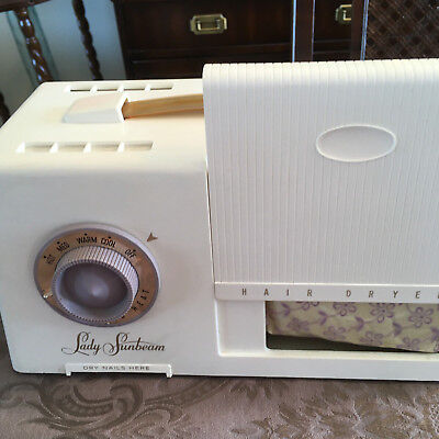 Vintage Lady Sunbeam Hair Dryer and Nail Dryer in One Retro